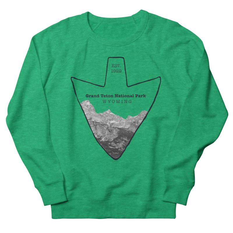 Grand Teton National Park Arrowhead Women's Sweatshirt by Of The Wild by Kimberly J Tilley