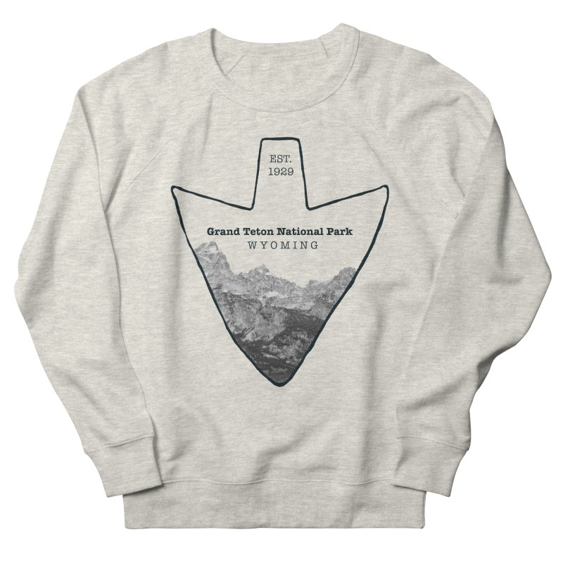 Grand Teton National Park Arrowhead Women's French Terry Sweatshirt by Of The Wild by Kimberly J Tilley