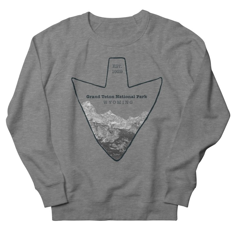 Grand Teton National Park Arrowhead Men's French Terry Sweatshirt by Of The Wild by Kimberly J Tilley