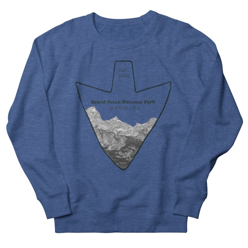 Grand Teton National Park Arrowhead Men's Sweatshirt by Of The Wild by Kimberly J Tilley