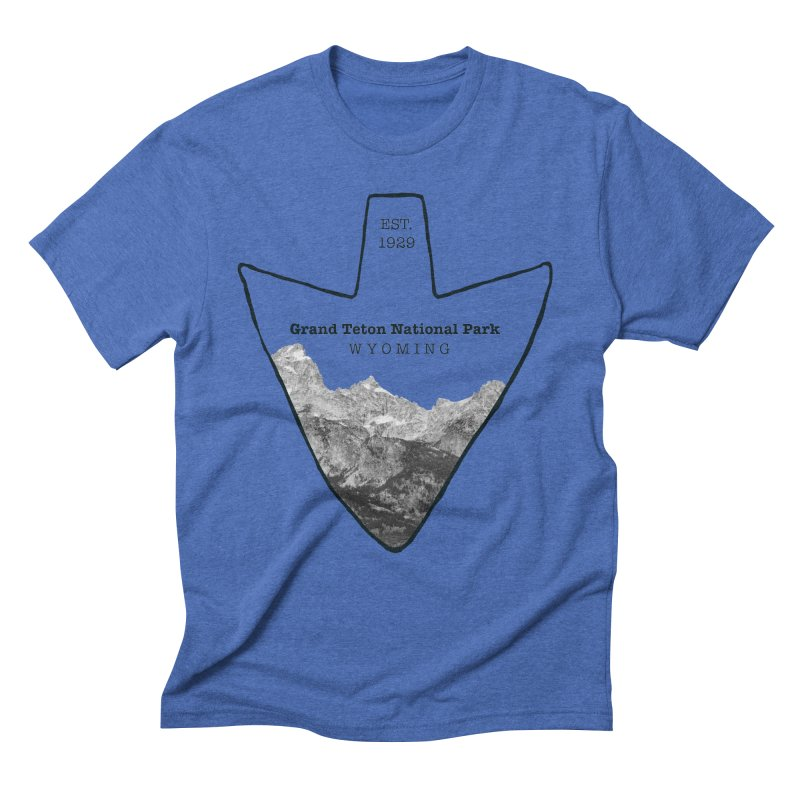 Grand Teton National Park Arrowhead Men's Triblend T-Shirt by Of The Wild by Kimberly J Tilley