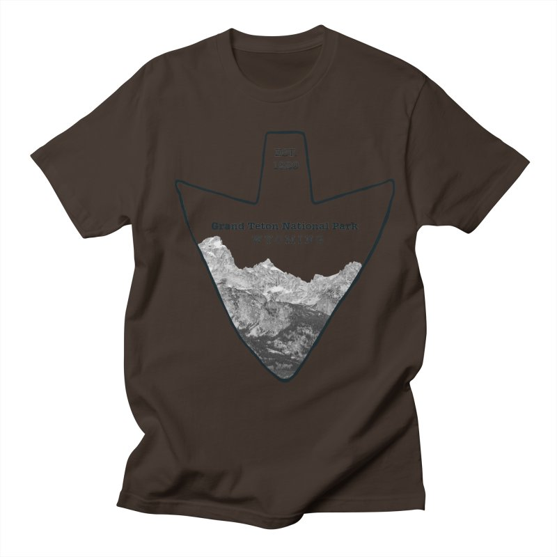 Grand Teton National Park Arrowhead Men's T-Shirt by Of The Wild by Kimberly J Tilley
