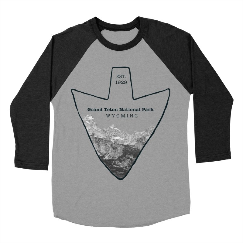 Grand Teton National Park Arrowhead Women's Baseball Triblend Longsleeve T-Shirt by Of The Wild by Kimberly J Tilley