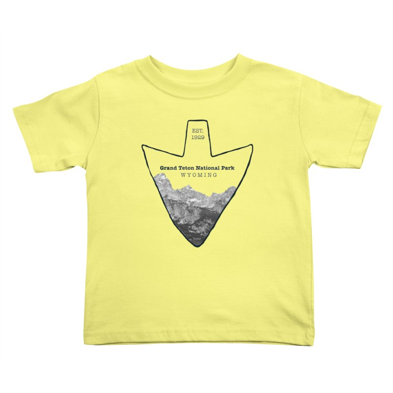 Grand Teton National Park Arrowhead Kids Toddler T-Shirt by Of The Wild by Kimberly J Tilley