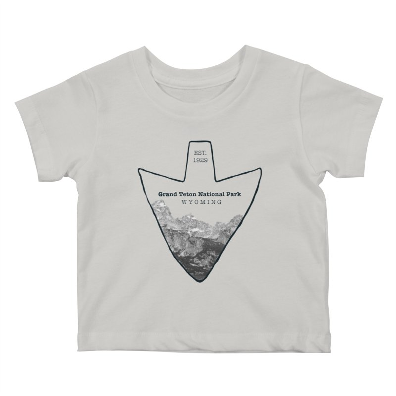 Grand Teton National Park Arrowhead Kids Baby T-Shirt by Of The Wild by Kimberly J Tilley
