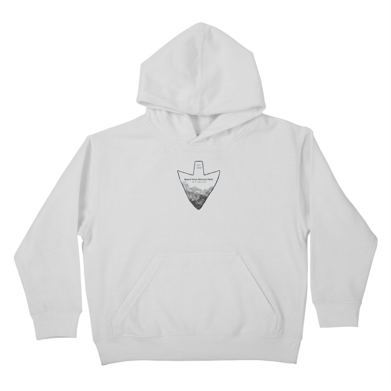 Grand Teton National Park Arrowhead Kids Pullover Hoody by Of The Wild by Kimberly J Tilley