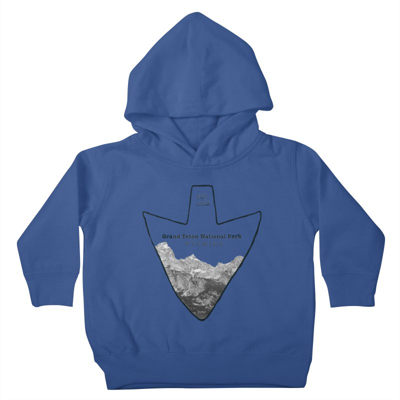 Grand Teton National Park Arrowhead Kids Toddler Pullover Hoody by Of The Wild by Kimberly J Tilley