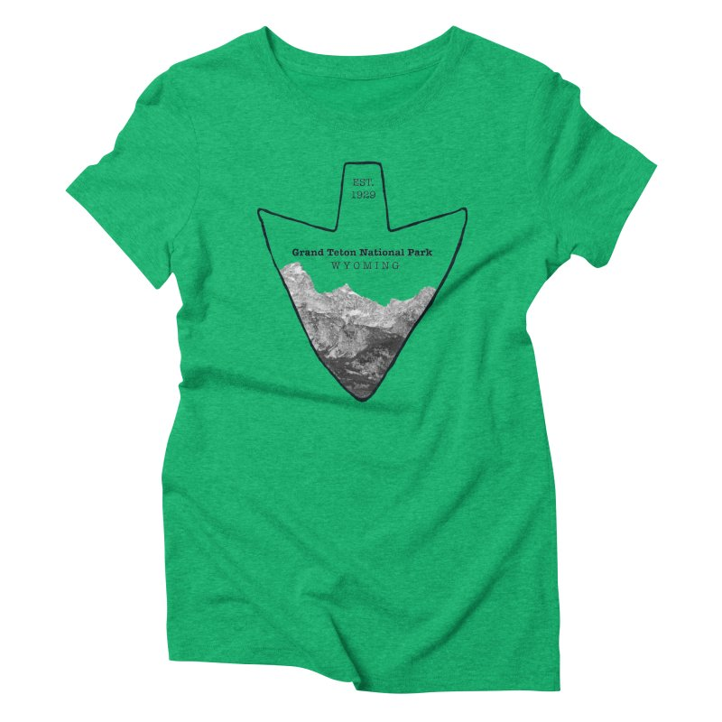 Grand Teton National Park Arrowhead Women's Triblend T-Shirt by Of The Wild by Kimberly J Tilley