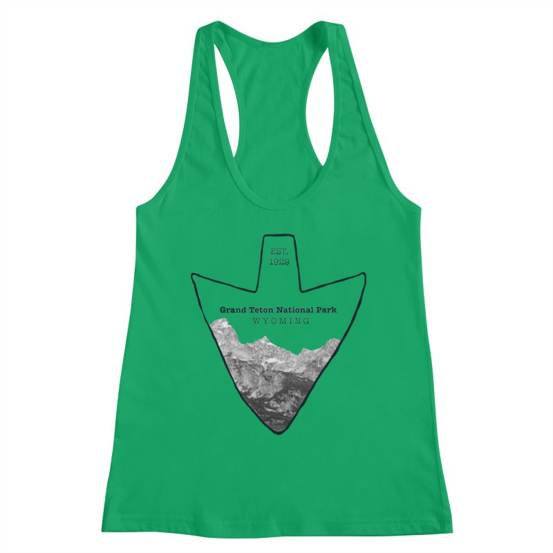 Grand Teton National Park Arrowhead Women's Tank by Of The Wild by Kimberly J Tilley