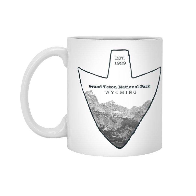 Grand Teton National Park Arrowhead Accessories Standard Mug by Of The Wild by Kimberly J Tilley