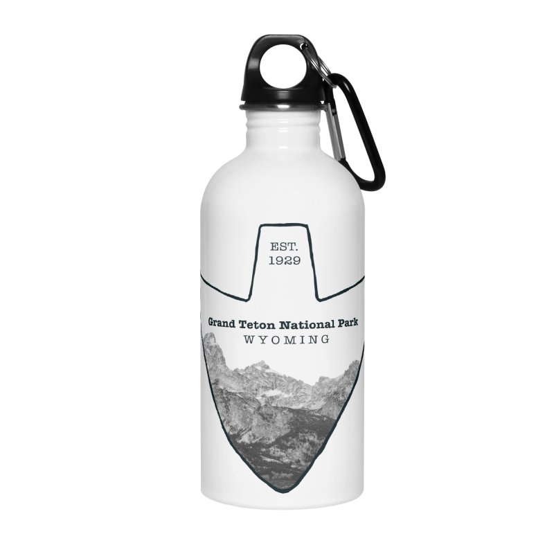 Grand Teton National Park Arrowhead Accessories Water Bottle by Of The Wild by Kimberly J Tilley