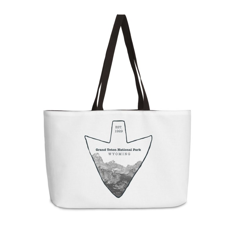 Grand Teton National Park Arrowhead Accessories Weekender Bag Bag by Of The Wild by Kimberly J Tilley
