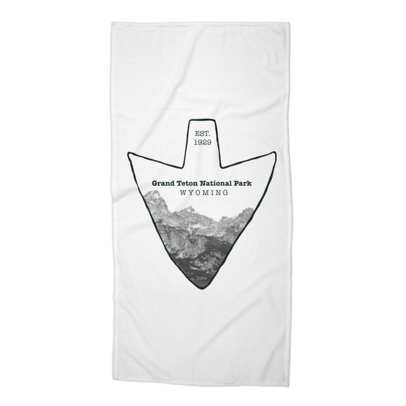 Grand Teton National Park Arrowhead Accessories Beach Towel by Of The Wild by Kimberly J Tilley