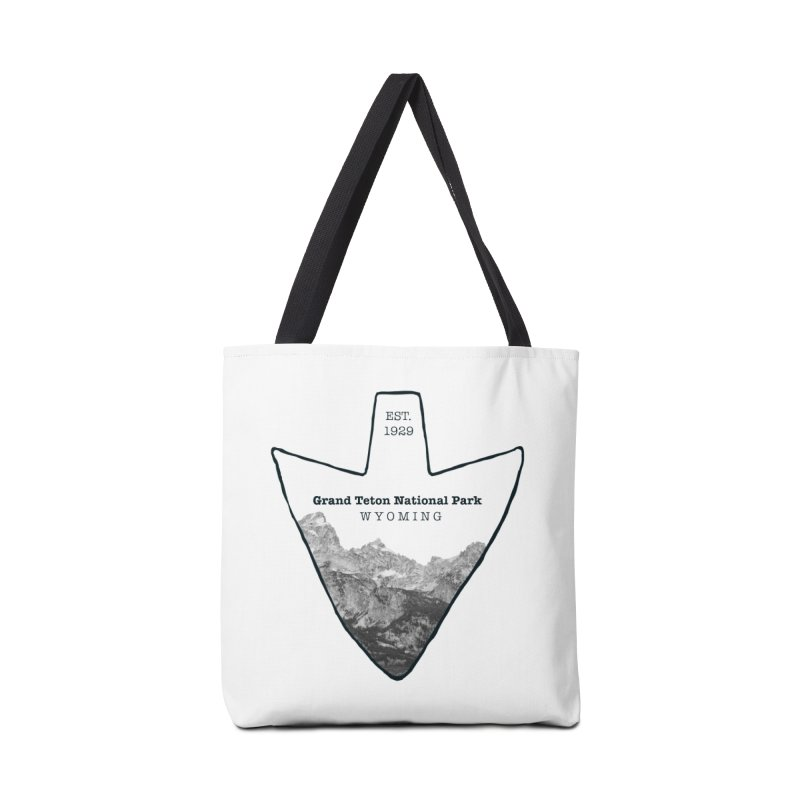 Grand Teton National Park Arrowhead Accessories Tote Bag Bag by Of The Wild by Kimberly J Tilley
