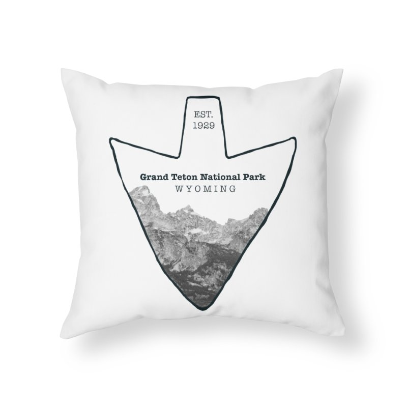 Grand Teton National Park Arrowhead Home Throw Pillow by Of The Wild by Kimberly J Tilley