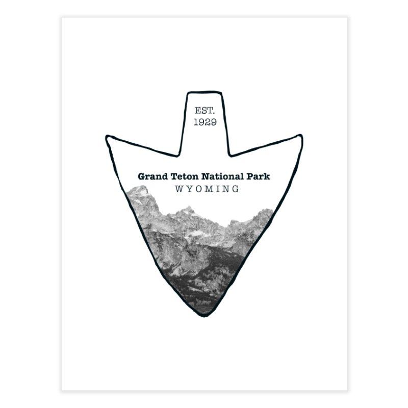 Grand Teton National Park Arrowhead Home Fine Art Print by Of The Wild by Kimberly J Tilley