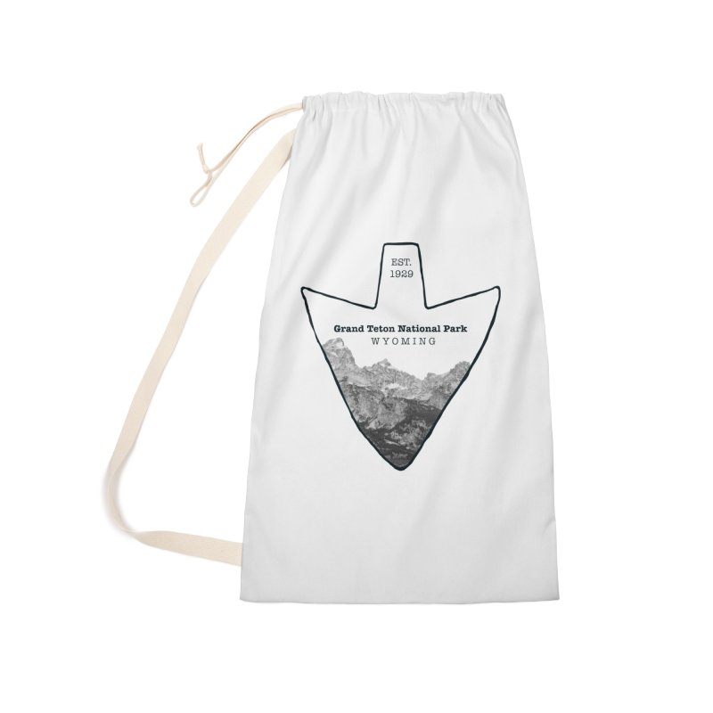 Grand Teton National Park Arrowhead Accessories Laundry Bag Bag by Of The Wild by Kimberly J Tilley