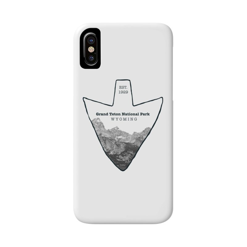 Grand Teton National Park Arrowhead Accessories Phone Case by Of The Wild by Kimberly J Tilley