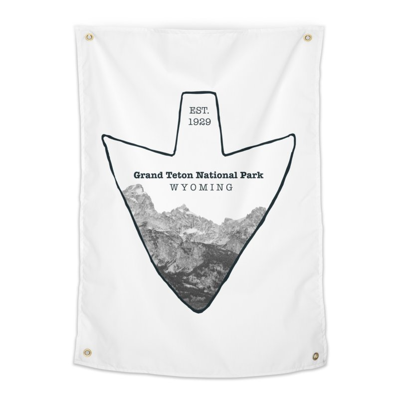 Grand Teton National Park Arrowhead Home Tapestry by Of The Wild by Kimberly J Tilley