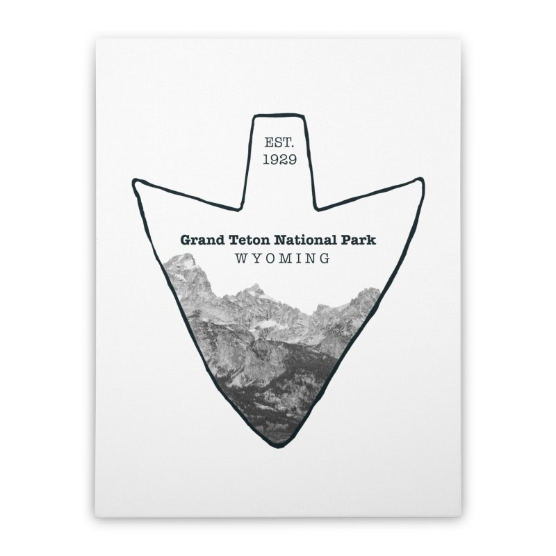 Grand Teton National Park Arrowhead Home Stretched Canvas by Of The Wild by Kimberly J Tilley