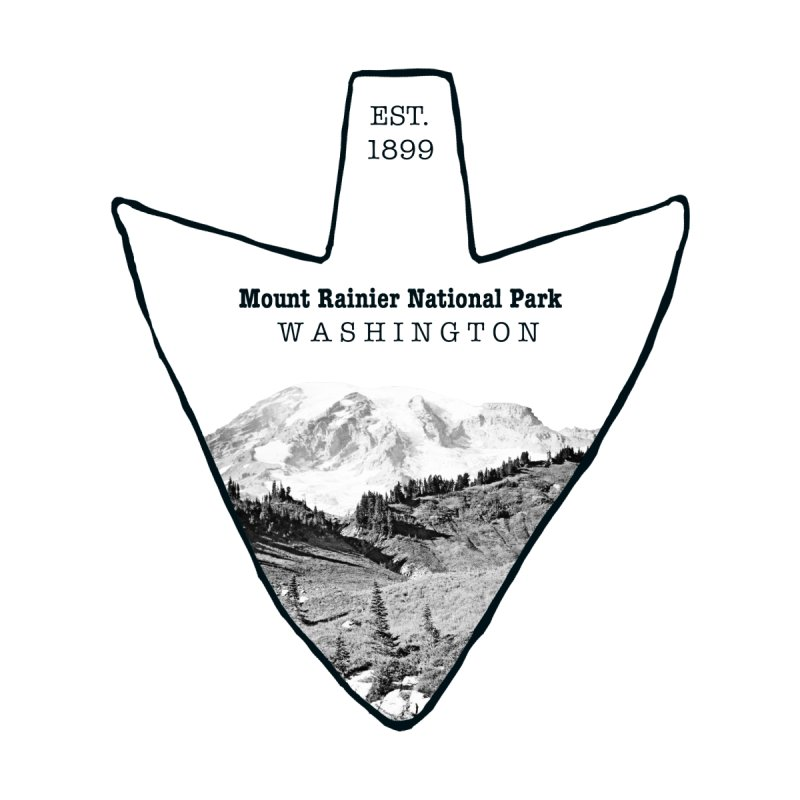 Mount Rainier National Park Arrowhead Men's V-Neck by Of The Wild by Kimberly J Tilley