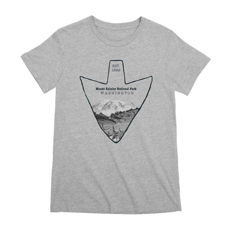 Mount Rainier National Park Arrowhead Women's Premium T-Shirt by Of The Wild by Kimberly J Tilley