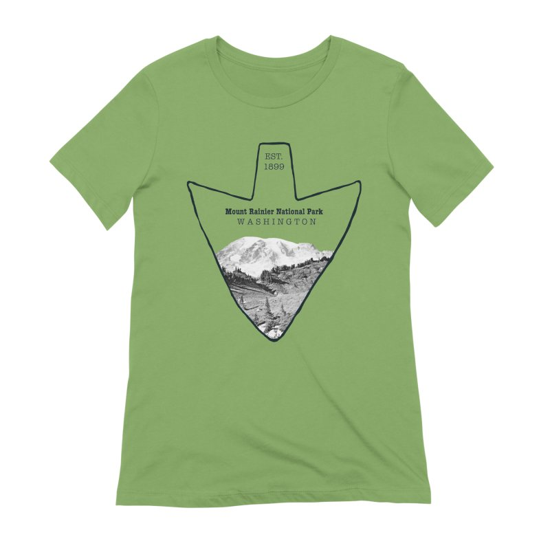 Mount Rainier National Park Arrowhead Women's Extra Soft T-Shirt by Of The Wild by Kimberly J Tilley