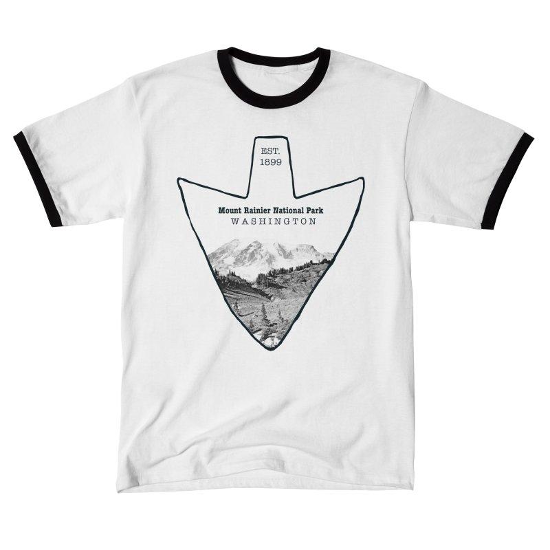 Mount Rainier National Park Arrowhead Women's T-Shirt by Of The Wild by Kimberly J Tilley