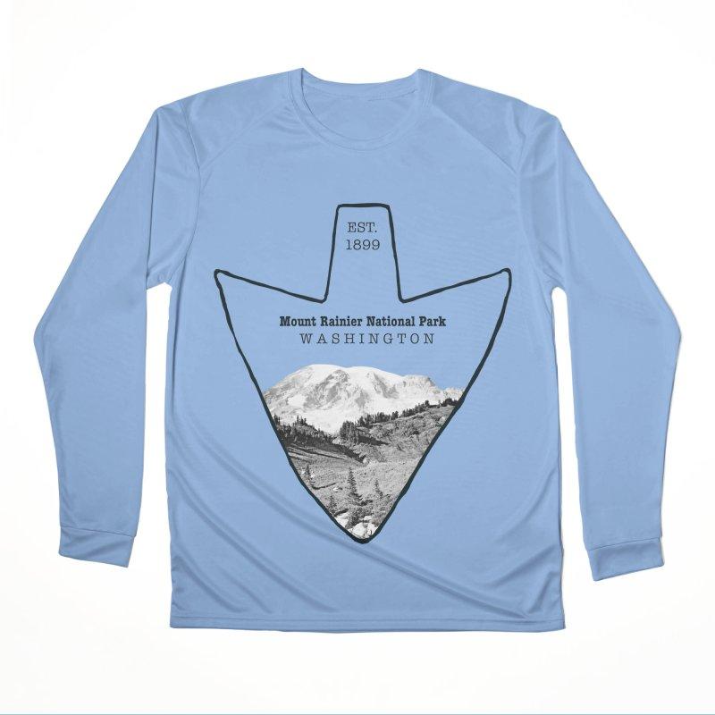 Mount Rainier National Park Arrowhead Men's Longsleeve T-Shirt by Of The Wild by Kimberly J Tilley