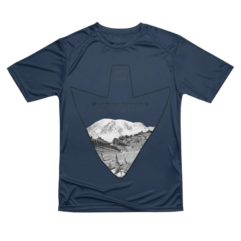 Mount Rainier National Park Arrowhead Men's Performance T-Shirt by Of The Wild by Kimberly J Tilley
