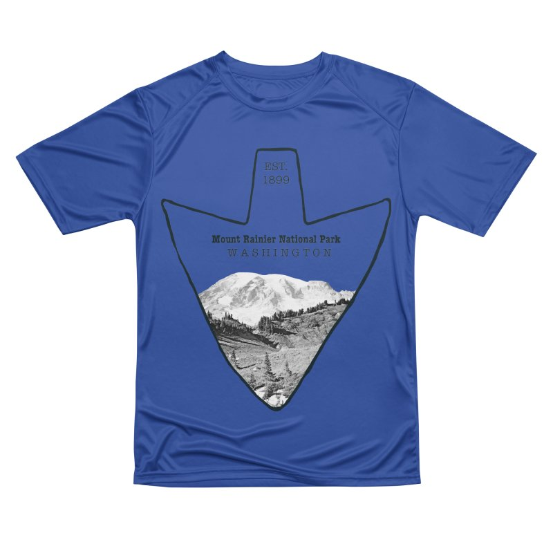 Mount Rainier National Park Arrowhead Women's Performance Unisex T-Shirt by Of The Wild by Kimberly J Tilley