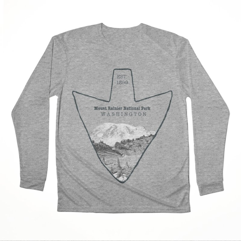 Mount Rainier National Park Arrowhead Women's Performance Unisex Longsleeve T-Shirt by Of The Wild by Kimberly J Tilley
