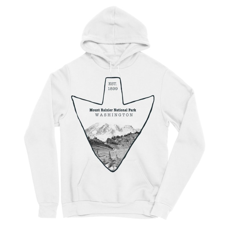 Mount Rainier National Park Arrowhead Women's Sponge Fleece Pullover Hoody by Of The Wild by Kimberly J Tilley