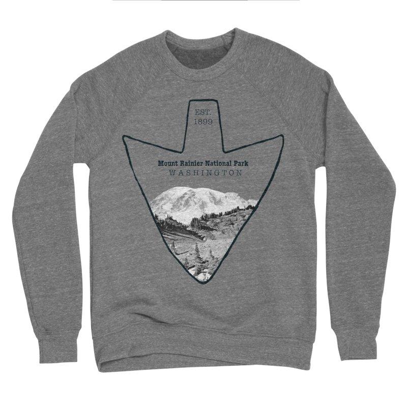 Mount Rainier National Park Arrowhead Men's Sponge Fleece Sweatshirt by Of The Wild by Kimberly J Tilley