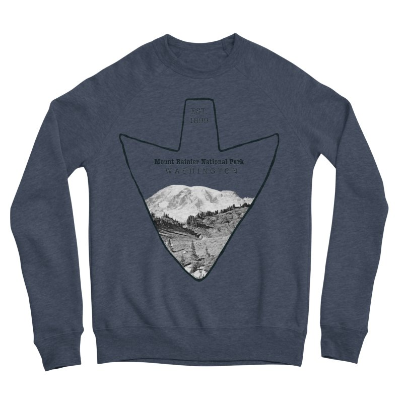 Mount Rainier National Park Arrowhead Men's Sponge Fleece Sweatshirt by Of The Wild by Kimberly J Tilley