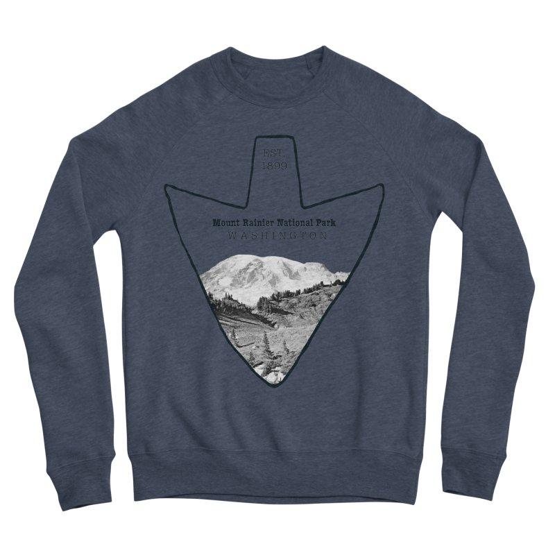 Mount Rainier National Park Arrowhead Women's Sponge Fleece Sweatshirt by Of The Wild by Kimberly J Tilley