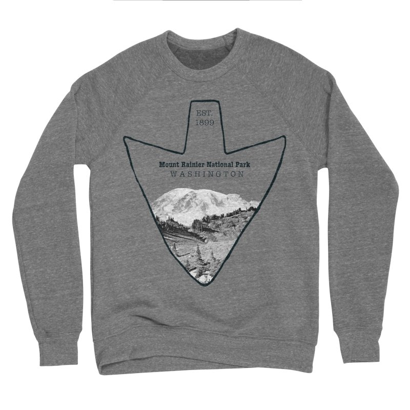 Mount Rainier National Park Arrowhead Women's Sponge Fleece Sweatshirt by Of The Wild by Kimberly J Tilley
