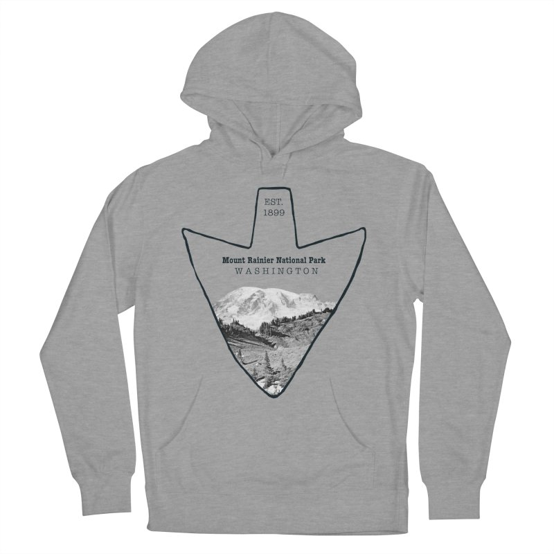 Mount Rainier National Park Arrowhead Women's Pullover Hoody by Of The Wild by Kimberly J Tilley