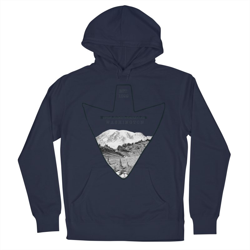 Mount Rainier National Park Arrowhead Men's Pullover Hoody by Of The Wild by Kimberly J Tilley