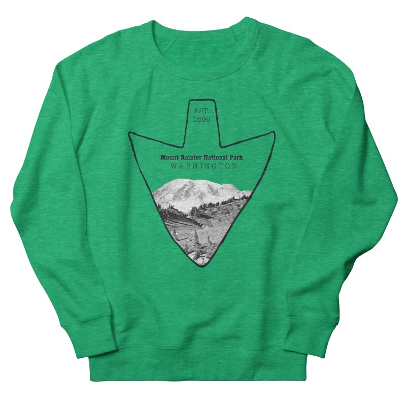 Mount Rainier National Park Arrowhead Women's Sweatshirt by Of The Wild by Kimberly J Tilley