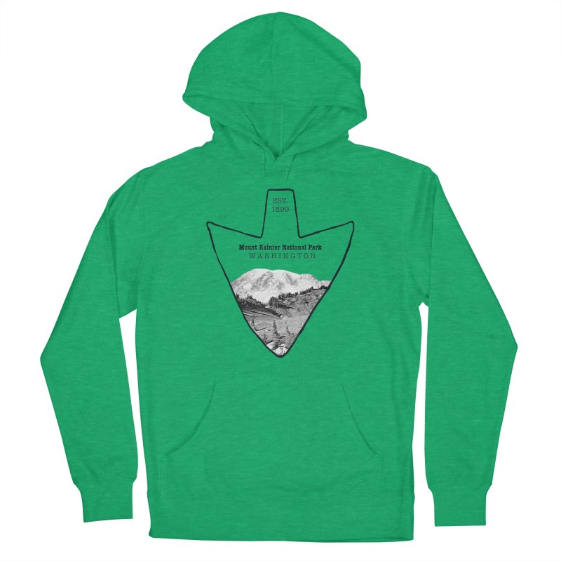 Mount Rainier National Park Arrowhead Women's French Terry Pullover Hoody by Of The Wild by Kimberly J Tilley