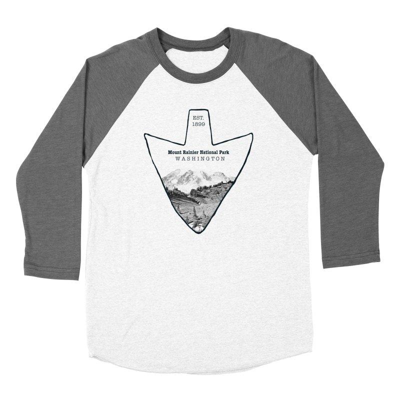 Mount Rainier National Park Arrowhead Women's Longsleeve T-Shirt by Of The Wild by Kimberly J Tilley
