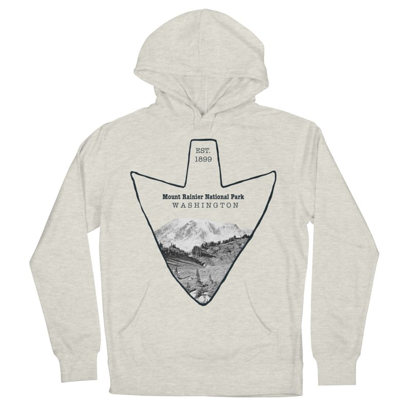Mount Rainier National Park Arrowhead Men's French Terry Pullover Hoody by Of The Wild by Kimberly J Tilley