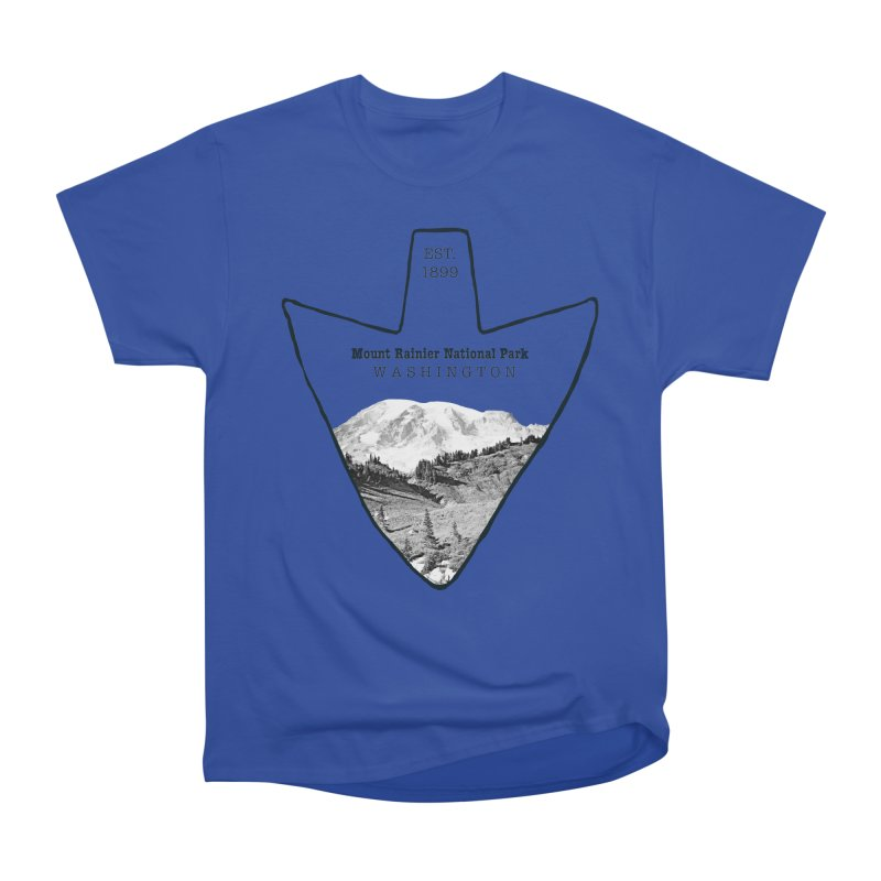 Mount Rainier National Park Arrowhead Men's  by Of The Wild by Kimberly J Tilley