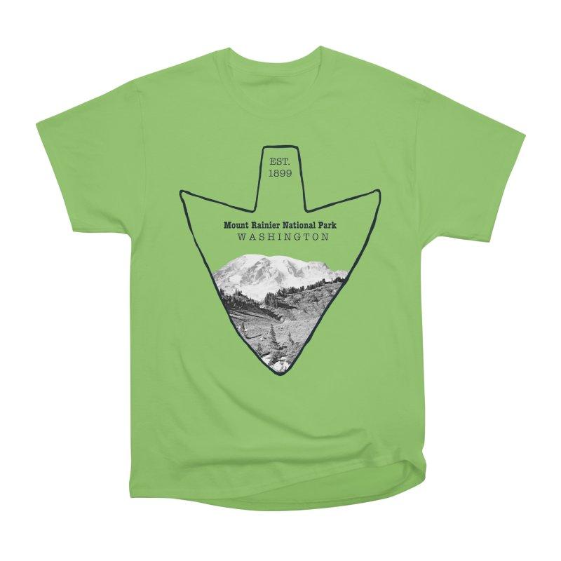 Mount Rainier National Park Arrowhead Women's Heavyweight Unisex T-Shirt by Of The Wild by Kimberly J Tilley