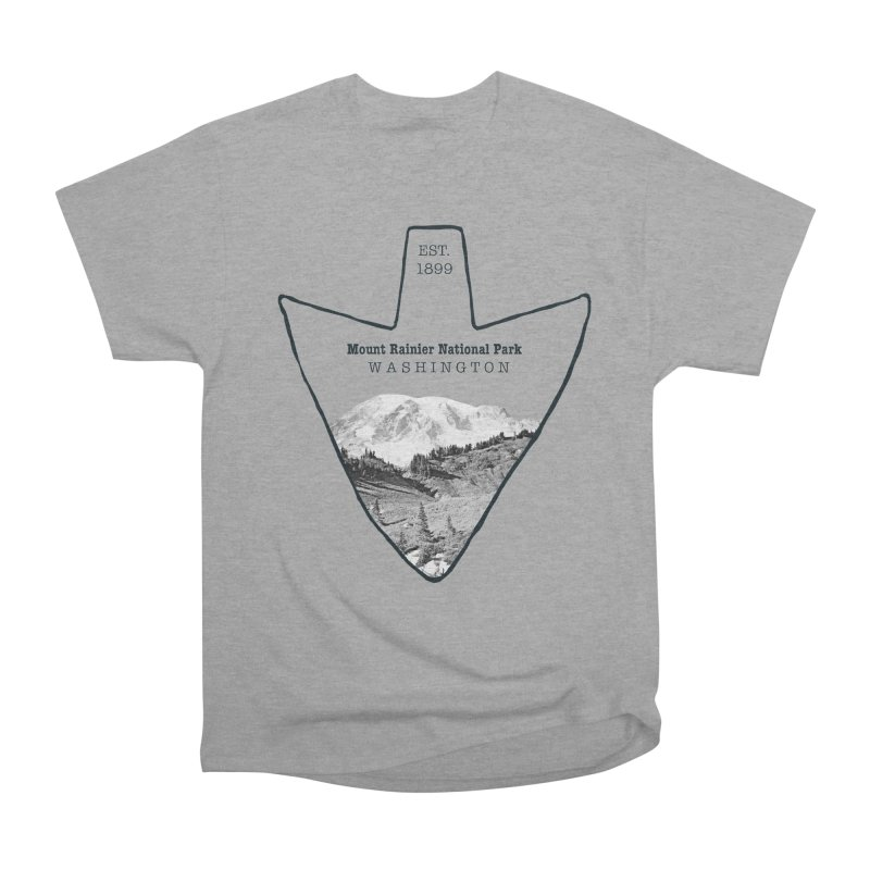 Mount Rainier National Park Arrowhead Women's Heavyweight Unisex T-Shirt by Of The Wild by Kimberly J Tilley