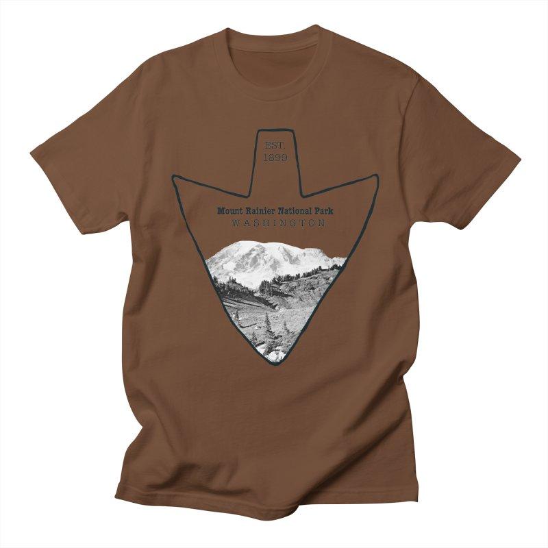 Mount Rainier National Park Arrowhead Women's Regular Unisex T-Shirt by Of The Wild by Kimberly J Tilley