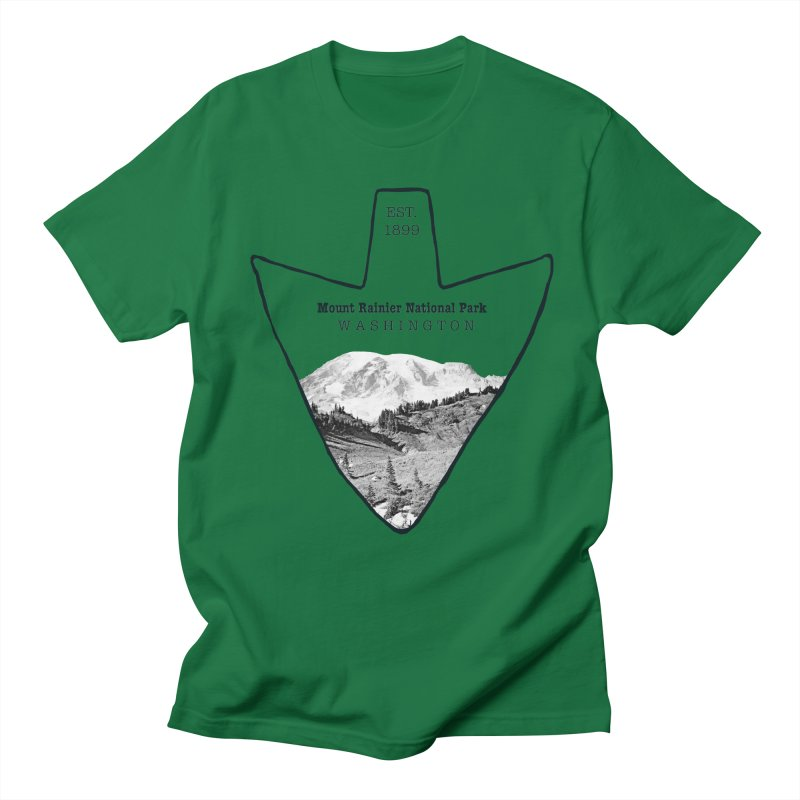 Mount Rainier National Park Arrowhead Men's Regular T-Shirt by Of The Wild by Kimberly J Tilley