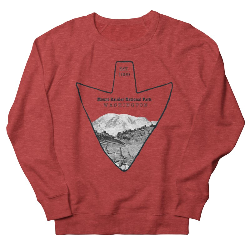 Mount Rainier National Park Arrowhead Women's French Terry Sweatshirt by Of The Wild by Kimberly J Tilley