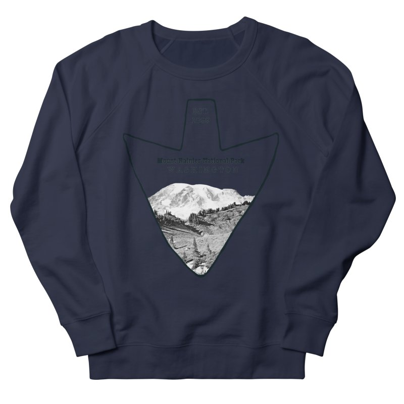 Mount Rainier National Park Arrowhead Men's French Terry Sweatshirt by Of The Wild by Kimberly J Tilley
